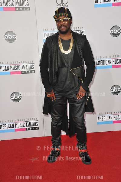 Will.I.Am at the 40th Anniversary American Music Awards at the Nokia Theatre LA Live..November 18, 2012  Los Angeles, CA.Picture: Paul Smith / Featureflash
