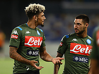 25th July 2020; Stadio San Paolo, Naples, Campania, Italy; Serie A Football, Napoli versus Sassuolo; Kevin Malcuit of Napoli pre-game warm up