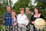 MUSICAL: Chairperson of St Kieran's Comhaltas Peter O'Connor, Kay Daly (Secretary) Kay Fitzgerald (Treasurer) Tom McKenna (Irish Officer) and Pro Helen Blanchfield are holding a fundraising walk in aid of St Kieran's Comhaltas group which is bringing traditional music alive in the greater Castleisland area.