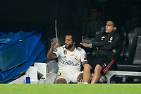Marcelo Vieira of Real Madrid during the match between Real Madrid vs Viktoria Plzen of UEFA Champions League, Group Stage, Group G, date 3, 2018-2019 season. Santiago Bernabeu Stadium. Madrid, Spain - 23 OCT 2018.