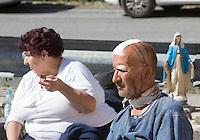 Injured people outside of the village of Amatrice, central Italy, hit by a magnitude 6 earthquake at 3,36 am, 24 August 2016.<br /> Feriti all'esterno dell'ospedale di Amatrice dopo il terremoto magnitudo 6 che alle 3,36 del mattino ha colpito la zona, 24 agosto 2016.<br /> UPDATE IMAGES PRESS/Riccardo De Luca