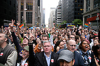 Supporters at the Marriage Equality Rally in Midtown Manhattan.