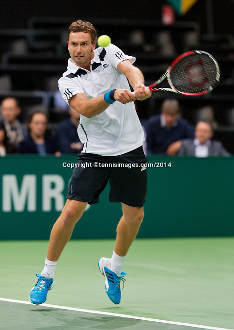 13-02-14, Netherlands,Rotterdam,Ahoy, ABNAMROWTT, Ernests Gulbis(LET) <br /> Photo:Tennisimages/Henk Koster