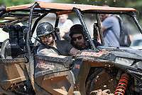 NWA Democrat-Gazette/CHARLIE KAIJO Cord Matthews of Springdale and Clay Bowman of Bella Vista (from left) ride during the Mudtown Days event, Saturday, June 8, 2019 at Ward Nail Park in Lowell. <br />