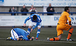 Goalscorer Martin Boyle taken out by keeper Sam Filler