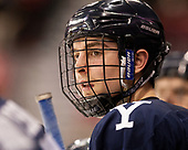 Ted Hart (Yale - 19) The Boston University Terriers defeated the visiting Yale University Bulldogs 5-2 on Tuesday, December 13, 2016, at the Agganis Arena in Boston, Massachusetts.