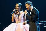 Singers India Martinez (L) and Axel during concert of Festival Unicos. September 23, 2019. (ALTERPHOTOS/Johana Hernandez)