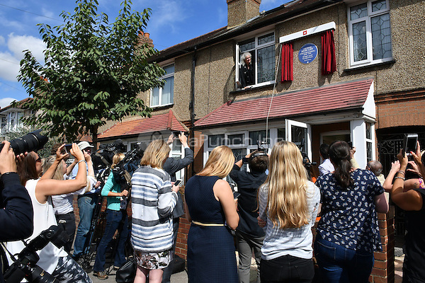 Brian May and Mercury's sister Kashmira Cooke attend unveiling of blue plaque for late Queen singer, in Feltham.  <br /> CAP/JOR<br /> &copy;JOR/Capital Pictures /MediaPunch ***NORTH AND SOUTH AMERICAS ONLY***