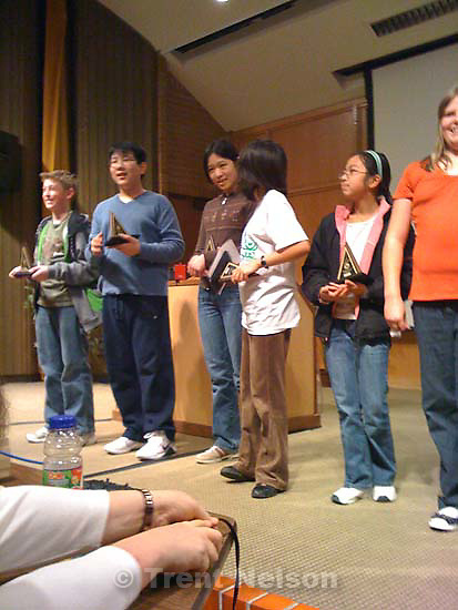 Noah takes second in Math Counts competition, February 21, 2009. at Salt Lake Community College