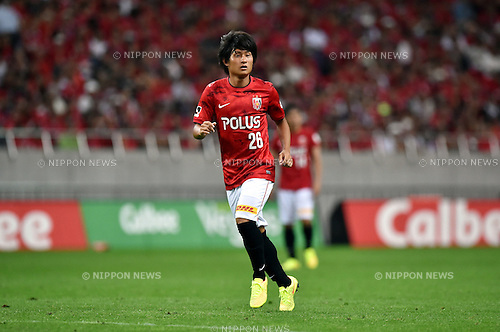 Takahiro Sekine (Reds),<br /> AUGUST 16, 2014 - Football / Soccer :<br /> 2014 J.League Division 1 match between Urawa Red Diamonds 1-0 Sanfrecce Hiroshima at Saitama Stadium 2002 in Saitama, Japan. (Photo by AFLO)