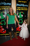 As The World Turns' Terri Colombino  - ATWT with daughter Julia at the opening night of John Tartaglia's Imaginocean, a new family undersea musical adventure on March 31, 2010 at New World Stages, New York City, New York. John Tartaglia's ImaginOcean is an interactive family show - a magical, musical undersea adventure for kids of all ages. Tank, Bubbles, and Dorsel are three best friends who just happen to be fish, and they're about to set out on a remarkable journey of discovery. And it all starts with a treasure map. As they swim off in search of clues, they'll sing, they'll dance, and they'll make new friends -- including everyone in the audience. Ultimately, they discover the greatest treasure of all -- friendship. Jam-packed with original music ranging from swing to R&B to Big Band, John Tartaglia's ImaginOcean is a blast rom the first big splash to the last wave goodbye. (Photo by Sue Coflin/Max Photos)