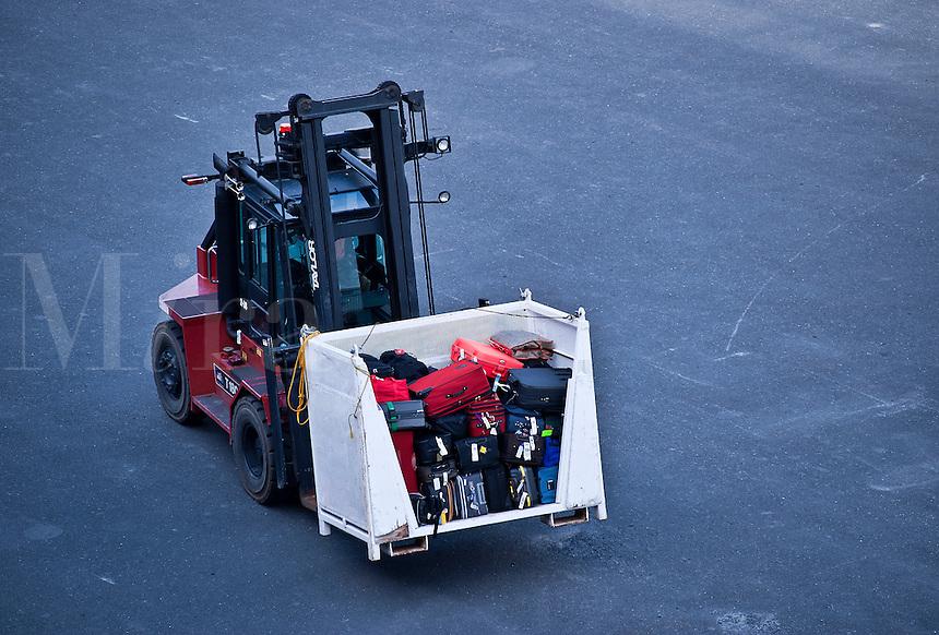 Cruise luggage cargo transport.
