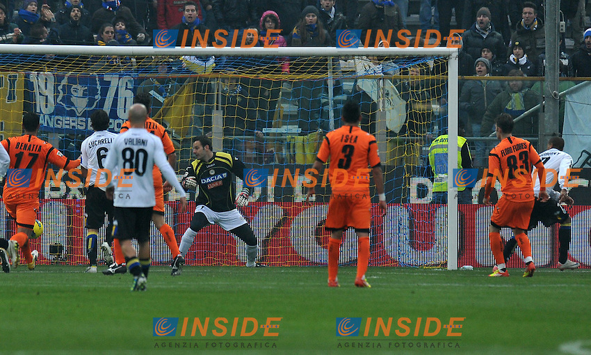 "Il gol di Jonathan BIABIANY (Parma) goal celebration.Parma 20/11/2011 Stadio ""Ennio Tardini"".Serie A 2011/2012.Football Calcio Parma Vs Udinese.Foto Insidefoto Alessandro Sabattini."