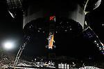 PASADENA, CA. - October 25: U2  in concert during their 360º Tour at the Rose Bowl on October 25, 2009 in Pasadena, California.