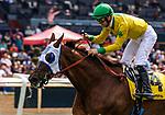 MAY 18: Vasilika with Flavien Prat  wins the Gamely Stakes at Santa Anita at Santa Anita Park in Arcadia, California on May 27, 2019. Chris Crestik/Eclipse Sportswire/CSM