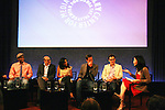 """Guiding Light's Matt Bomer """"Ben Reade"""" and now """"Neal Caffrey on USA's White Collar and cast: (L to R) Sharif Atkins """"Jones"""", Willie Garson """"Mozzie"""", Marsha Thomason """"Diana"""", Tim DeKay """"Peter Burke"""" and moderator Michelle Kung were a part of White Collar Comes Clean at the Paley Center for Media, New York City, NY on June 7, 2010. (Photo by Sue Coflikn/Max Photos)"""