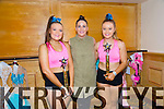 Hannah Lynchehan, Cassie Leen and Ava Kelleher at the Disco Dancing Championships at the Brandon Hotel on Saturday