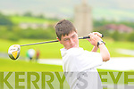 Shane Lehane Barrow driving down the fairway in the John Molyneaux Shield junior golf championships in Beaufort on Thursday