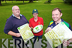SUMMER CAMPS: Dave Fitzgibbon, Caroline Hughes O'Sullivan and Kevin Barry announcing details this week of the annual Listowel Rugby Club summer camps.