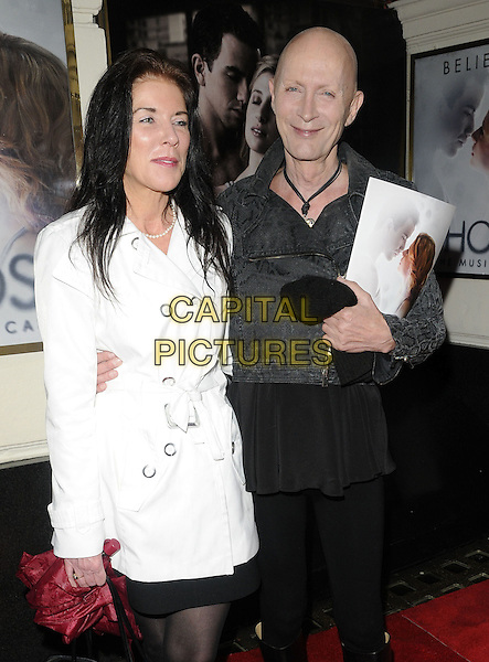 "Guest & Richard O'Brien.""Ghost The Musical"" press night, Piccadilly Theatre, Denman St., London, England..July 19th, 2011.half length white mac grey gray shirt jean denim.CAP/CAN.©Can Nguyen/Capital Pictures."