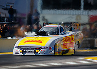 Feb 23, 2018; Chandler, AZ, USA; NHRA funny car driver Matt Hagan during qualifying for the Arizona Nationals at Wild Horse Pass Motorsports Park. Mandatory Credit: Mark J. Rebilas-USA TODAY Sports