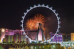 Caesars Palace 4th of July weekend High Rollers Party viewd from the High Roller