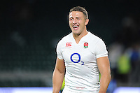 Sam Burgess of England looks pleased with the result - 15/08/2015 - Twickenham Stadium - London <br /> Mandatory Credit: Rob Munro/Stewart Communications