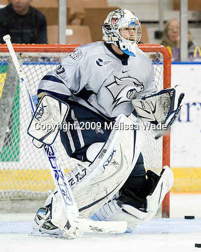Brian Foster (UNH - 29) - The University of Maine Black Bears defeated the host University of New Hampshire Wildcats 1-0 at the Verizon Wireless Arena in Manchester, New Hampshire, on Saturday, February 7, 2009.