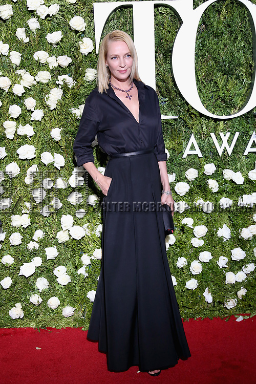 NEW YORK, NY - JUNE 11:  Uma Thurman attends the 71st Annual Tony Awards at Radio City Music Hall on June 11, 2017 in New York City.  (Photo by Walter McBride/WireImage)