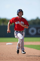 Boston Red Sox Chad De La Guerra (7) during an instructional league game against the Minnesota Twins on September 26, 2015 at CenturyLink Sports Complex in Fort Myers, Florida.  (Mike Janes/Four Seam Images)