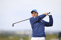 Mateo Fernandez de Oliveira (ARG) on the 5th tee during Round 1 of the The Amateur Championship 2019 at The Island Golf Club, Co. Dublin on Monday 17th June 2019.<br /> Picture:  Thos Caffrey / Golffile<br /> <br /> All photo usage must carry mandatory copyright credit (© Golffile | Thos Caffrey)