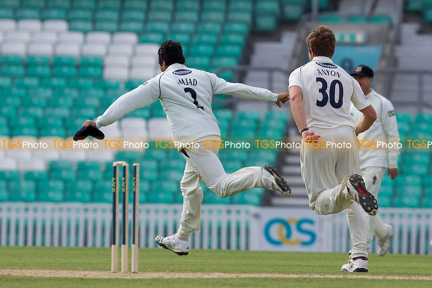 Amjad Khan's excellent fielding accounts for Mark Ramprakash (not pictured) - Surrey CCC vs Sussex CCC - LV County Championship Cricket at The Kia Oval, London - 06/04/12 - MANDATORY CREDIT: Ray Lawrence/TGSPHOTO - Self billing applies where appropriate - 0845 094 6026 - contact@tgsphoto.co.uk - NO UNPAID USE.
