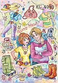 Interlitho, Dani, TEENAGERS, paintings, trendy friends(KL4043,#J#) Jugendliche, jóvenes, illustrations, pinturas ,everyday