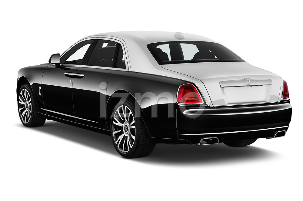 Car pictures of rear three quarter view of a 2016 Rollsroyce ghostsd1ra Base 4 Door Sedan angular rear