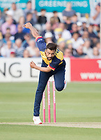 Mohammad Amir of Essex CCC in action during Essex Eagles vs Somerset, Vitality Blast T20 Cricket at The Cloudfm County Ground on 7th August 2019