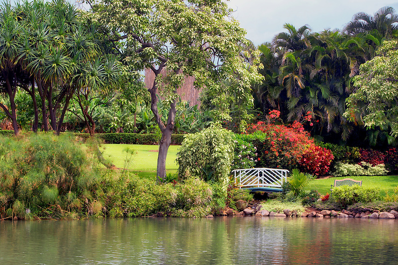 Gardens at Maui Tropical Plantation. Maui. Hawaii