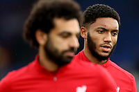 23rd November 2019; Selhurst Park, London, England; English Premier League Football, Crystal Palace versus Liverpool; Joe Gomez of Liverpool scar is still seen from his altercation with Raheem Sterling - Strictly Editorial Use Only. No use with unauthorized audio, video, data, fixture lists, club/league logos or 'live' services. Online in-match use limited to 120 images, no video emulation. No use in betting, games or single club/league/player publications