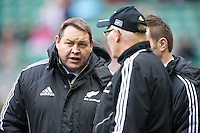 Steve Hansen, New Zealand Coach, before the QBE Autumn International match between England and New Zealand at Twickenham on Saturday 01 December 2012 (Photo by Rob Munro)