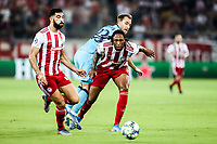 Christian Eriksen of Tottenham Hotspur in action with Ruben Semedo of Olympiacos Fc, during the UEFA Champions League match between Olympiacos Fc and Tottenham Hotspur, in Karaiskaki Stadium in Piraeus, Greece. Wednesday 18 September 2019