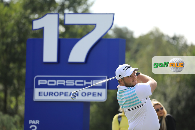 Zander Lombard (RSA) during the second round of the Porsche European Open , Green Eagle Golf Club, Hamburg, Germany. 06/09/2019<br /> Picture: Golffile | Phil Inglis<br /> <br /> <br /> All photo usage must carry mandatory copyright credit (© Golffile | Phil Inglis)