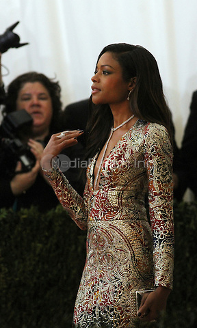 05 02 2016: Naomie Harris at Manus X Machina: Fashion In An Age of Technology at Metropolitan Museum of Art in New York. Credit:RWMediaPunch