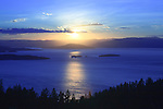 Sunset over Flathead Lake in western Montana