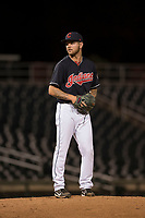 AZL Indians 1 relief pitcher Jake Miednik (64) prepares to deliver a pitch during an Arizona League game against the AZL White Sox at Goodyear Ballpark on June 20, 2018 in Goodyear, Arizona. AZL Indians 1 defeated AZL White Sox 8-7. (Zachary Lucy/Four Seam Images)