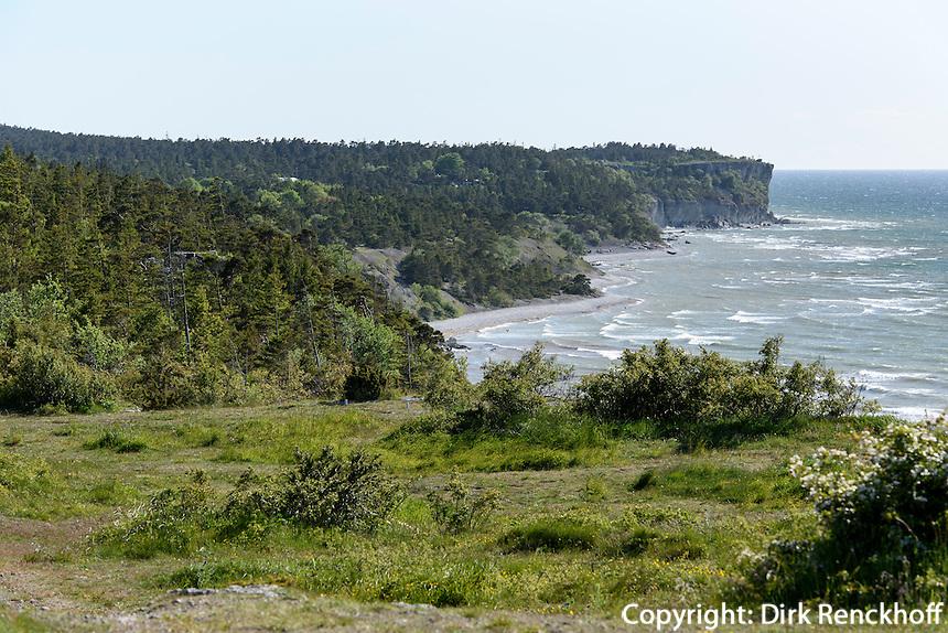 Felsen von H&ouml;gklint bei Visby auf der Insel Gotland, Schweden, Europa<br /> Cliffs of H&ouml;glind near Visby, Isle of Gotland, Sweden