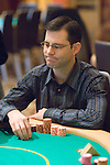 Brian Cospolich reacts to losing a hand to Daniel Negreanu.