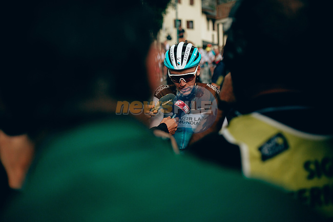 Romain Bardet (FRA) AG2R La Mondiale finishes in 2nd place at the end of Stage 18 of the 2019 Tour de France running 208km from Embrun to Valloire, France. 25th July 2019.<br /> Picture: ASO/Thomas Maheux | Cyclefile<br /> All photos usage must carry mandatory copyright credit (© Cyclefile | ASO/Thomas Maheux)