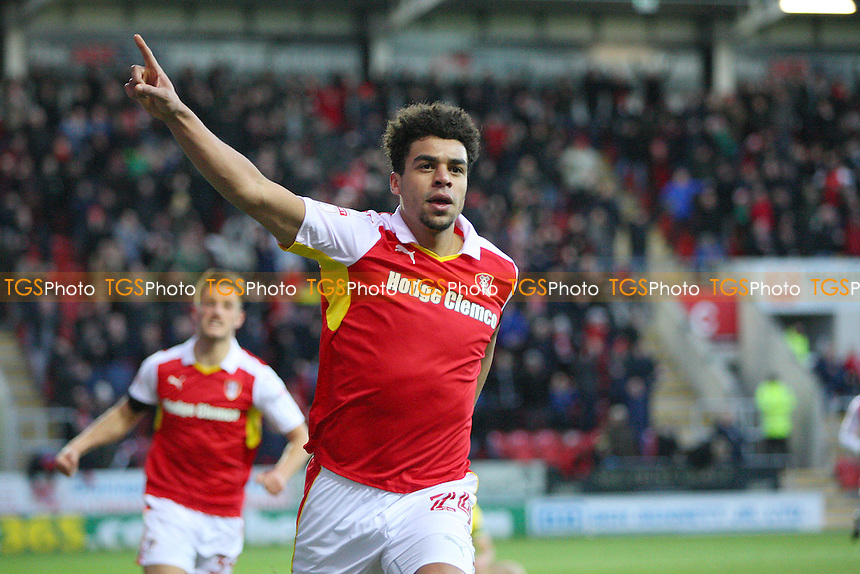 Tom Adeyemi of Rotherham United celebrate the second goal for his team during Rotherham United vs Norwich City, Sky Bet EFL Championship Football at the New York Stadium on 14th January 2017