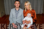 The christening party of Keenan Shanahan from Ballyheigue in the Ballyroe Heights Hotel on Saturday.<br /> L to r: Colin Shanahan (Dad), Baby Keelan, Sophie Casey (Mom).