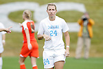 05 November 2008: North Carolina's Rachel Wood. The University of North Carolina defeated the University of Miami 1-0 at Koka Booth Stadium at WakeMed Soccer Park in Cary, NC in a women's ACC tournament quarterfinal game.