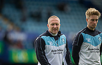 Wycombe Wanderers Assistant Manager Richard Dobson & Wycombe Wanderers Assistant Sports Scientist Reece Clifford during the Sky Bet League 2 match between Portsmouth and Wycombe Wanderers at Fratton Park, Portsmouth, England on 23 April 2016. Photo by Andy Rowland.